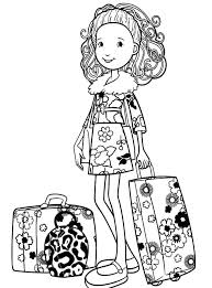 Travel Coloring Pages Groovy Girls Going To Travel Coloring Pages