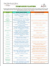 Vegetable Companion Planting Charts Companion Planting Printable Chart Faith Filled Food For Moms