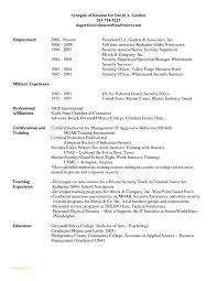 Resume Examples For Military To Civilian And Military Police Resume