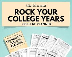 Best Academic Planner For College Students College Planner Etsy