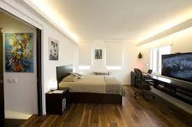 ... Small bachelor pad bedroom design idea