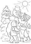 Детский зимний рисунок раскраска