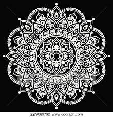 Henna Pattern Beauteous Vector Art Mehndi Indian Henna Tattoo Pattern EPS Clipart
