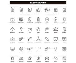 Resume Icons Amazing 282 Resume Icons CV Clip Art Curriculum Clipart Set Of Icons
