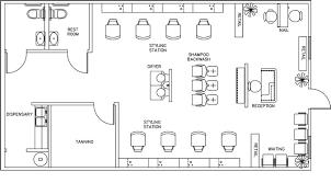 Beauty Salon Floor Plan Design Layout  1160 Square FootFloor Plans For Salons