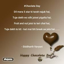 Happy Chocolate Day Quotes Messages Choclate Day Nojoto
