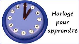 Resultado de imagen de horloges pour apprendre l'heure