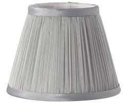 grey chiffon pleated 6 clip on chandelier wall light lamp shade