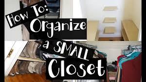 s to organize a small closet diy nyc apartment