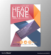 Brochure Background Design A4 Creative Abstract Background Design Brochure Vector Image