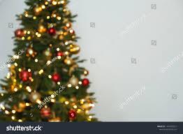 Blurred View Christmas Tree Fairy Lights Stock Photo Edit
