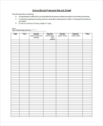 Blood Pressure And Pulse Chart Template Blood Pressure Log Printable Chart Template For Resume