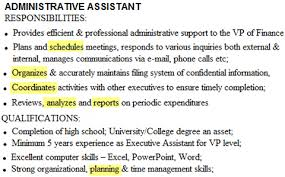 Duties Of Administrative Assistant Magnificent Action Verbs List 48 Action Words That Make Your Resume Rock Squawkfox