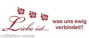 Liebe Ist Was Uns Ewig Verbindet 60x25cm Z148 Wandtattoo Sprüche