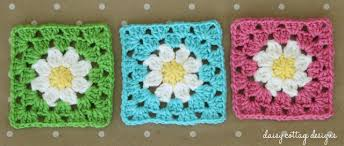 Easy Crochet Granny Squares Free Patterns Interesting Daisy Granny Square Crochet Pattern Daisy Cottage Designs