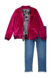 hudson jeansvelvet er jacket 3 piece set toddler girls