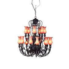 eurofase richtree collection 18 light aged bronze hanging chandelier