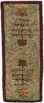 feather tree table runner by adrienne s pattern only or complete rug hooking kit