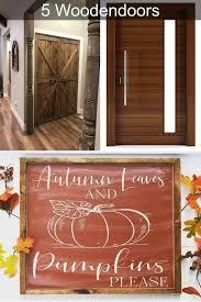 wooden front doors with glass door