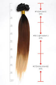 30 Inch Bright Ombre Clip In Indian Remy Hair Extensions