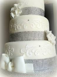 White Silver Christening Cake Cakecentralcom