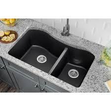33 Quartz Double Bowl Undermount Kitchen Sink Gray Ca324233 G