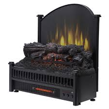 electric fireplace logs with removable fireback and heater
