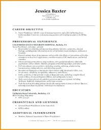 Resume Objective Examples Nursing Lvn Resume Examples New Graduate
