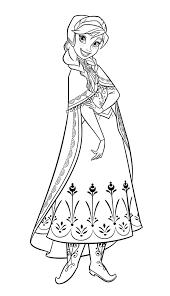 Tranh tô màu công chúa Anna - Gia Đình Su