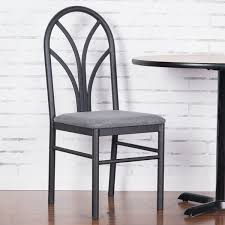 lancaster table seating gray 4 spoke restaurant dining room chair with 1 3 4 padded seat