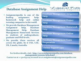 database assignment help database assignment help for further details assignmentpedia