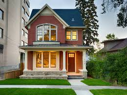 calgary infill crescent heights showhome front exterior