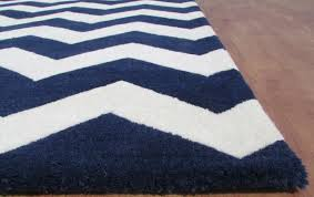 navy and white chevron rug