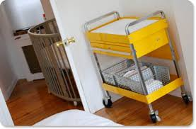 Changing table made out of tool cart - love this idea for our baby boy!