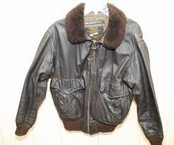 details about vintage us navy leather flight jacket er flyer jacket intermediate g 1 sz 42