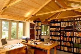 home library office. 2 Person Garden Office \u0026 Library Home