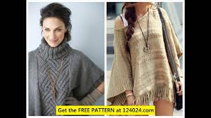 Free Knitted Poncho Patterns Magnificent Ideas