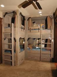 cool bunk beds built into wall. Rustic Built In Bunk Beds Kids With Bed Curtains Built-in Shelves Cool Into Wall H