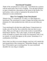 Microsoft Word Storyboard Template