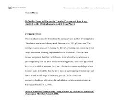reflective essay writing in nursing reflection of clinical practice nursing essay uk essays