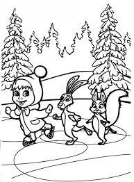 Masha E Orso Da Colorare Per Bambini Pattina Disegni Da Colorare E