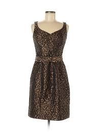 Details About Teri Jon By Rickie Freeman Women Brown Cocktail Dress 6