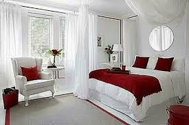 Romantic red and white bedroom | Beautiful bedrooms | Romantic ...