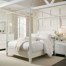 Fancy Queen Size Canopy Bed Frame with Bed Frames Bedroom Queen Dark ...