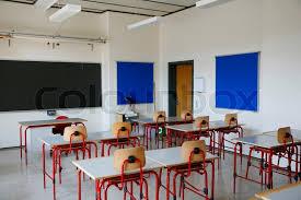 school classroom doors. Classroom In A Danish Secondary School During The Summer Vacation Period, Stock Photo Doors