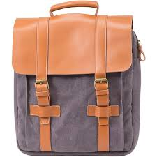 grey three bottle leather wine backpack carrier
