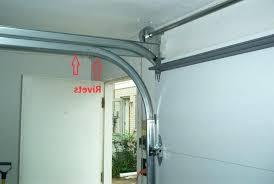 low headroom garage door track installation low headroom double tracks rivets low headroom garage door track installation