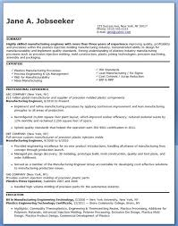 Manufacturing Engineer Resume Sample