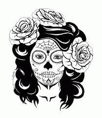 Day Dead Girl Skull Coloring Pages Skull Coloring Pages Sugar