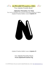 alphabetprintables letter n bubble